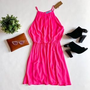 Francesca's Hot Pink Mini Dress NWT Size L